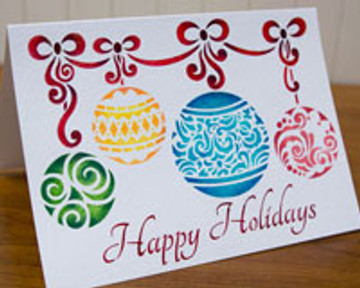 Holiday Ornament Craft Stencil