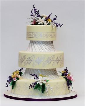 Six Petal Blossom Cake Stencil by GSA