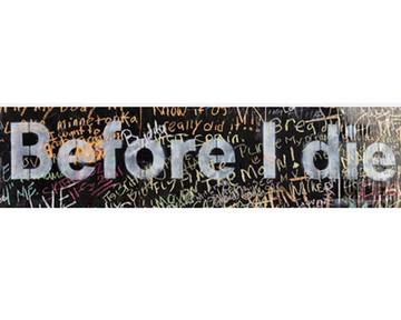 Before I Die Large Heading - English