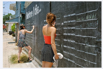 Before I Die Line Stencil - English