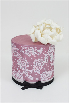 Peony Lace Cake Stencil by Sharon Wee