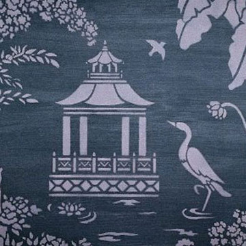 Pagoda Insert for Oriental Toile by Jeff Raum
