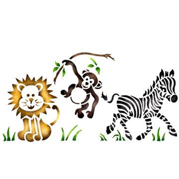 Jungle Animal Wall Stencil