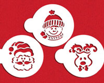Large Whimsical Holiday Cookie Stencil Set