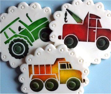 Trucks Cookie Stencil Set