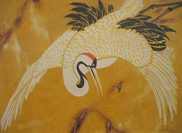 Female Crane Stencil by Jeff Raum