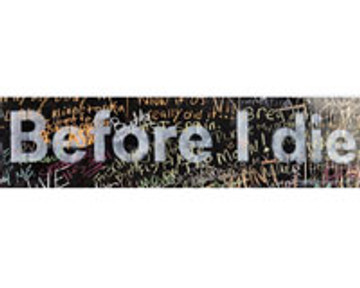Before I Die SMALL Heading - English