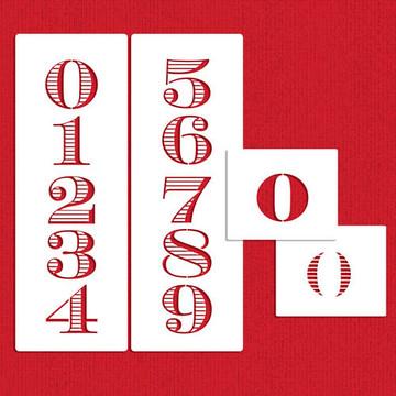 Chevalier Stripe Numbers Cake Stencil Set