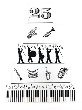 Marching Band Instruments Cookie Stencil