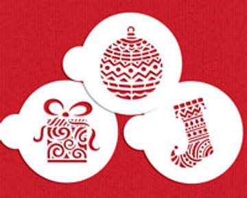 Modern Christmas Cookie Stencil Set