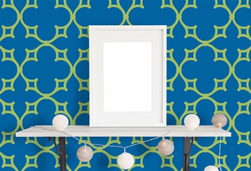 Parisian Fretwork All Over Wall Stencil - Large