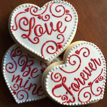 Love, Be Mine, Forever Hearts Cookie Stencil Set