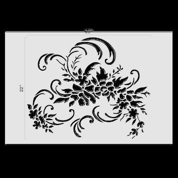 Floral Damask Stencil by Jeff Raum Size
