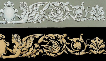 Angel Border Stencil by Jeff Raum SKU #JR20