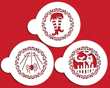 Whimsical Halloween Cookie Stencil