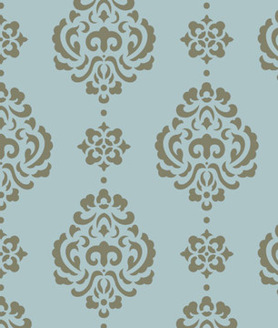 Large Rosie Damask  All Over Wall Stencil