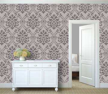 Large Royal Damask All Over Wall Stencil