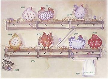Floral Fowl Hen Wall Stencil by DeeSigns