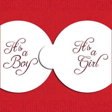 Script It's a Boy/Girl Cookie Top 3""