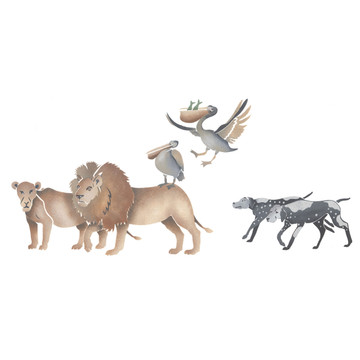 More Noah's Animals Wall Stencil by DeeSigns