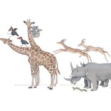 Noah's Animals Wall Stencil by DeeSigns