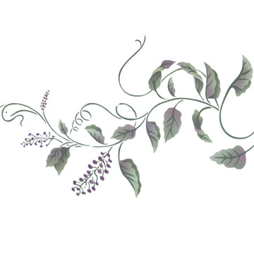 "Elder Flower ""B"" Wall Stencil by DeeSigns"
