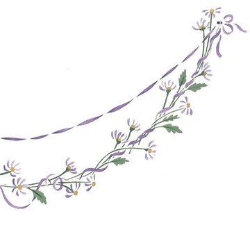Flower Chain Wall Stencil by DeeSigns