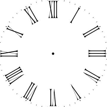 "Thin Roman Numeral 12-46"" Clockface Wall Stencil(choice of sizes)"