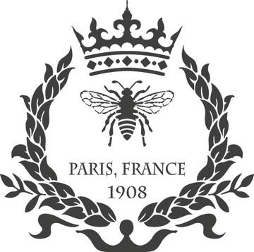 Paris Bee Wreath Stencil