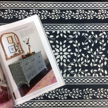 Indian Inlay Furniture Stencil Set 4