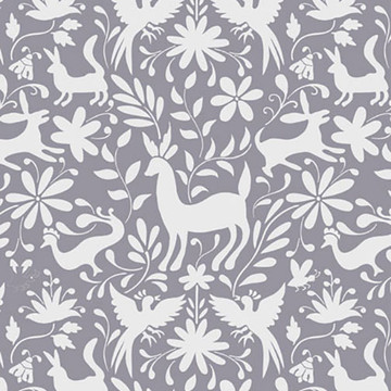 Otomi Animals All Over Wall Stencil