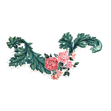 Bough of Roses Wall Stencil by The Mad Stencilist