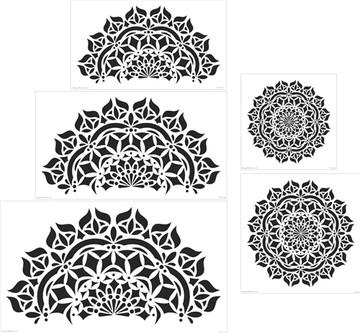 Asana Mandala Wall Stencil (14-36 Inch)