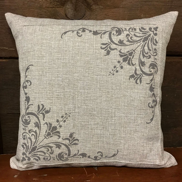 Turn of the Century Stencil Pillow