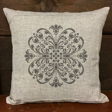 Turn of the Century Medallion Stencil Pillow