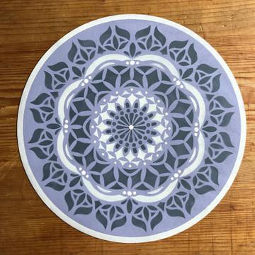 Asana Mandala Stencil on a Mat