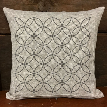 Interlocking Circles All Over Stencil Pillow