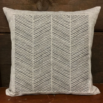 Handpainted Chevron All Over Stencil Pillow