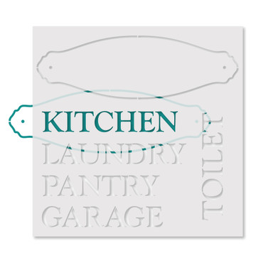 Door Plaques Stencil- How To Use