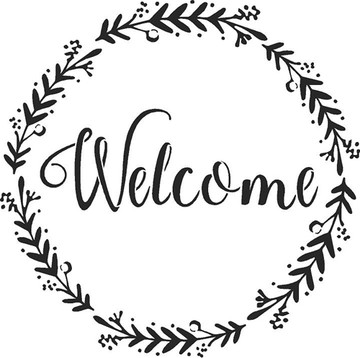"""""""Family - Welcome - Gather"""" Lettering Stencil- Welcome"""