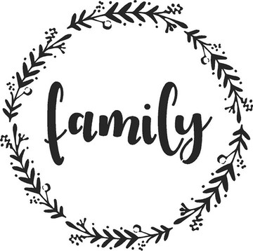 """Family - Welcome - Gather"" Lettering Stencil- Family"