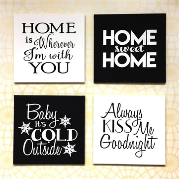 """Always Kiss Me Goodnight"" Sign Stencil Sign Collage"