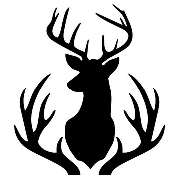 Buck Mount and Antlers Stencil (10 mil plastic)