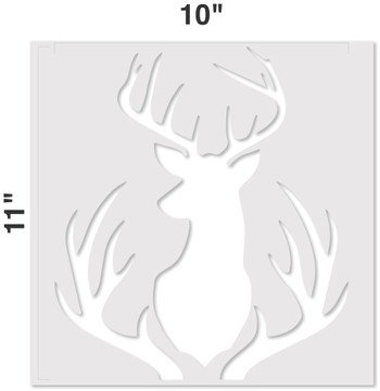 Buck Mount and Antlers Stencil Measurements
