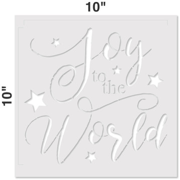 """""""Joy To The World"""" Sign Stencil Measurements"""