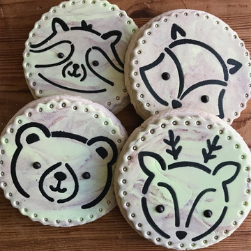 Large Baby Woodland Animals Cookie Stencil Set