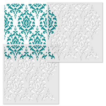Global Damask Wall Stencil Repeat