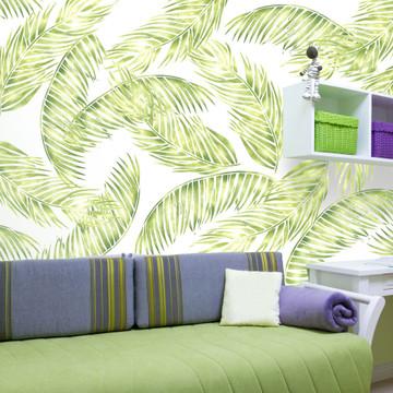 Palm Leaf Set Wall Stencil