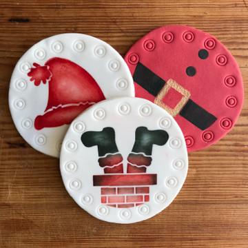 Silly Santa Cookie Stencil Set