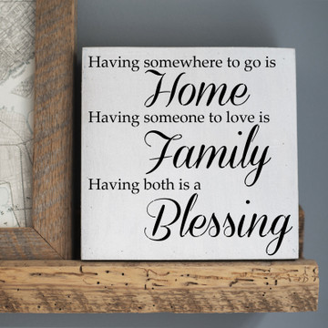 Home Family Blessing Stencil Sign